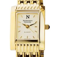 Northwestern Women's Gold Quad Watch with Bracelet