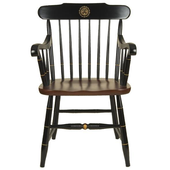 Wood Captain S Chair ~ University of pennsylvania captain s chair by hitchcock at