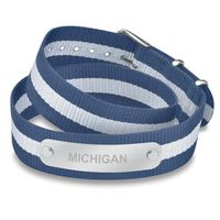 University of Michigan Double Wrap NATO ID Bracelet