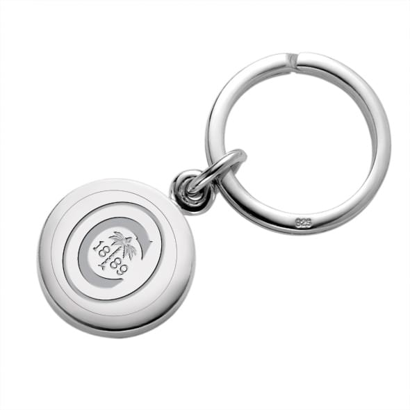Clemson Sterling Silver Insignia Key Ring