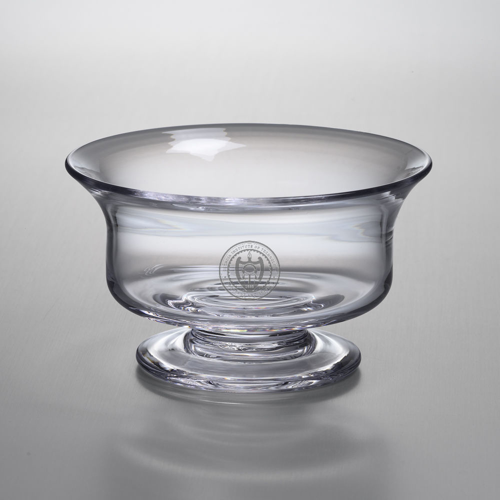 Georgia Tech Medium Glass Presentation Bowl by Simon Pearce