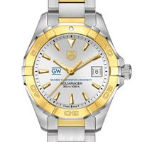 George Washington Women's TAG Heuer Two-Tone Aquaracer