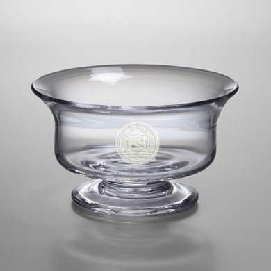 UNC Medium Glass Presentation Bowl by Simon Pearce