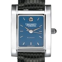 UVA Women's Blue Quad Watch with Leather Strap