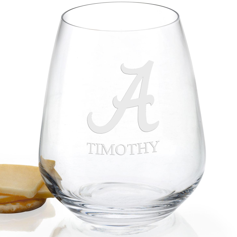 Alabama Stemless Wine Glasses - Set of 4
