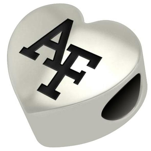 Air Force Academy Heart Shaped Bead