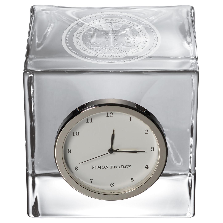 Berkeley Glass Desk Clock by Simon Pearce
