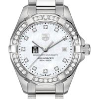 Marquette Women's TAG Heuer Steel Aquaracer with MOP Diamond Dial & Diamond Bezel