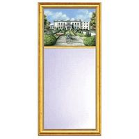 Merchant Marine Academy Eglomise Mirror with Gold Frame