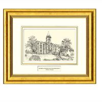 Framed Pen and Ink Georgia Tech Print