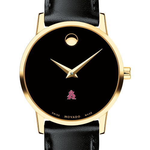 Arizona State Women's Movado Gold Museum Classic Leather