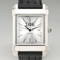 Sigma Phi Epsilon Men's Collegiate Watch with Leather Strap Image-1 Thumbnail