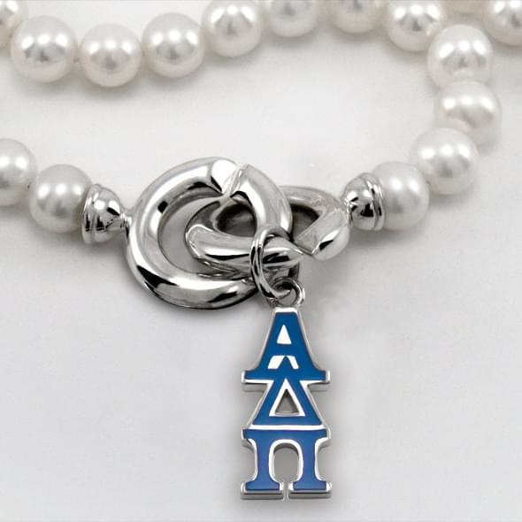 Alpha Delta Pi Pearl Necklace with Greek Letter Charm