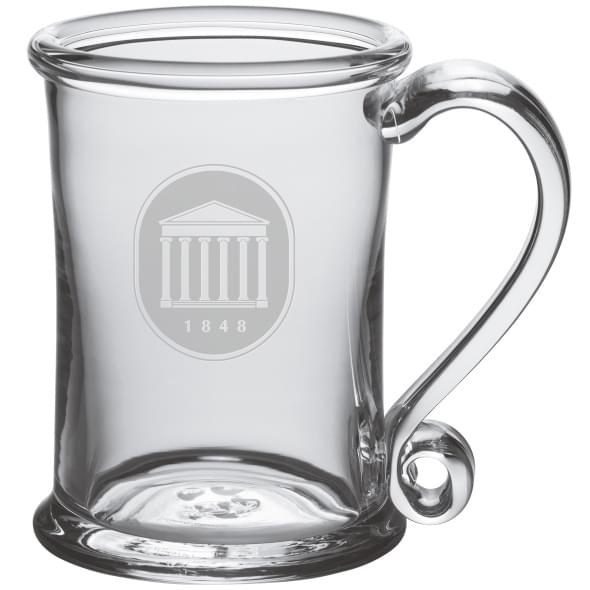 Ole Miss Glass Tankard by Simon Pearce