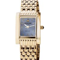 Notre Dame Alumni Women's Blue Mother of Pearl Quad Watch with Bracelet