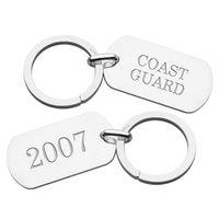 Coast Guard Academy Sterling Silver Dog Tag Key Ring