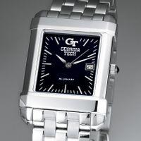 Georgia Tech Men's Black Quad Watch with Bracelet