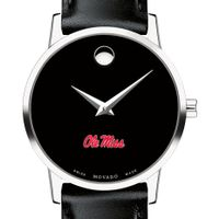 Ole Miss Women's Movado Museum with Leather Strap