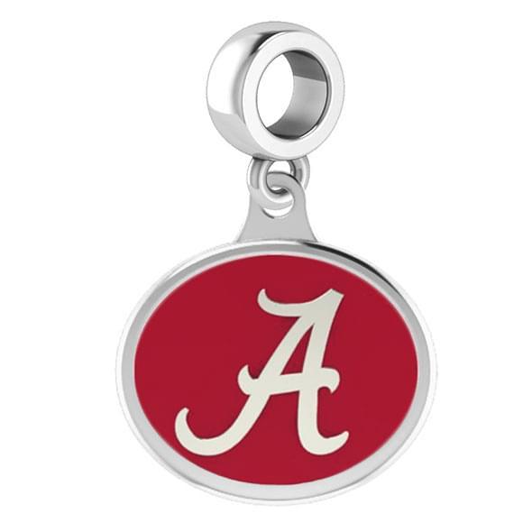 Alabama Round Enameled Drop Charm