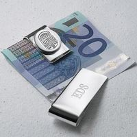 Brown Sterling Silver Money Clip