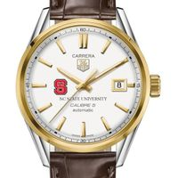 NC State Men's TAG Heuer Two-Tone Carrera with Strap