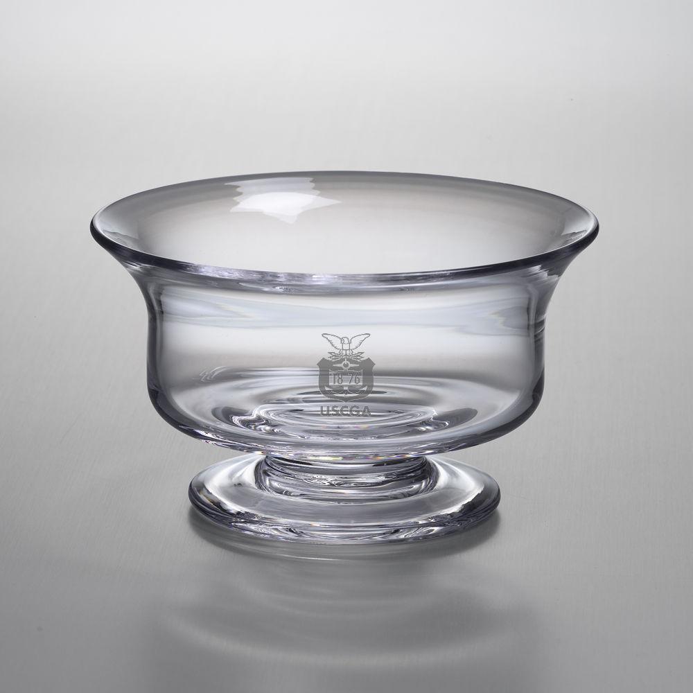 USCGA Medium Glass Presentation Bowl by Simon Pearce