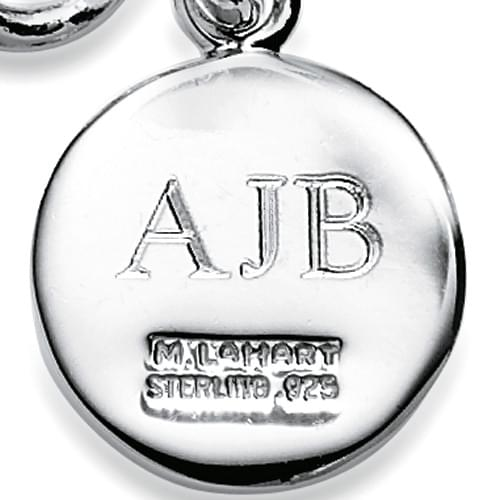 USNI Sterling Silver Necklace with Silver Charm Image-3