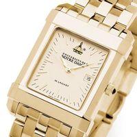 Notre Dame Men's Gold Quad Watch with Bracelet