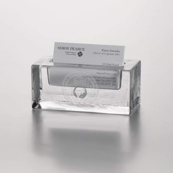 George Washington Glass Business Cardholder by Simon Pearce