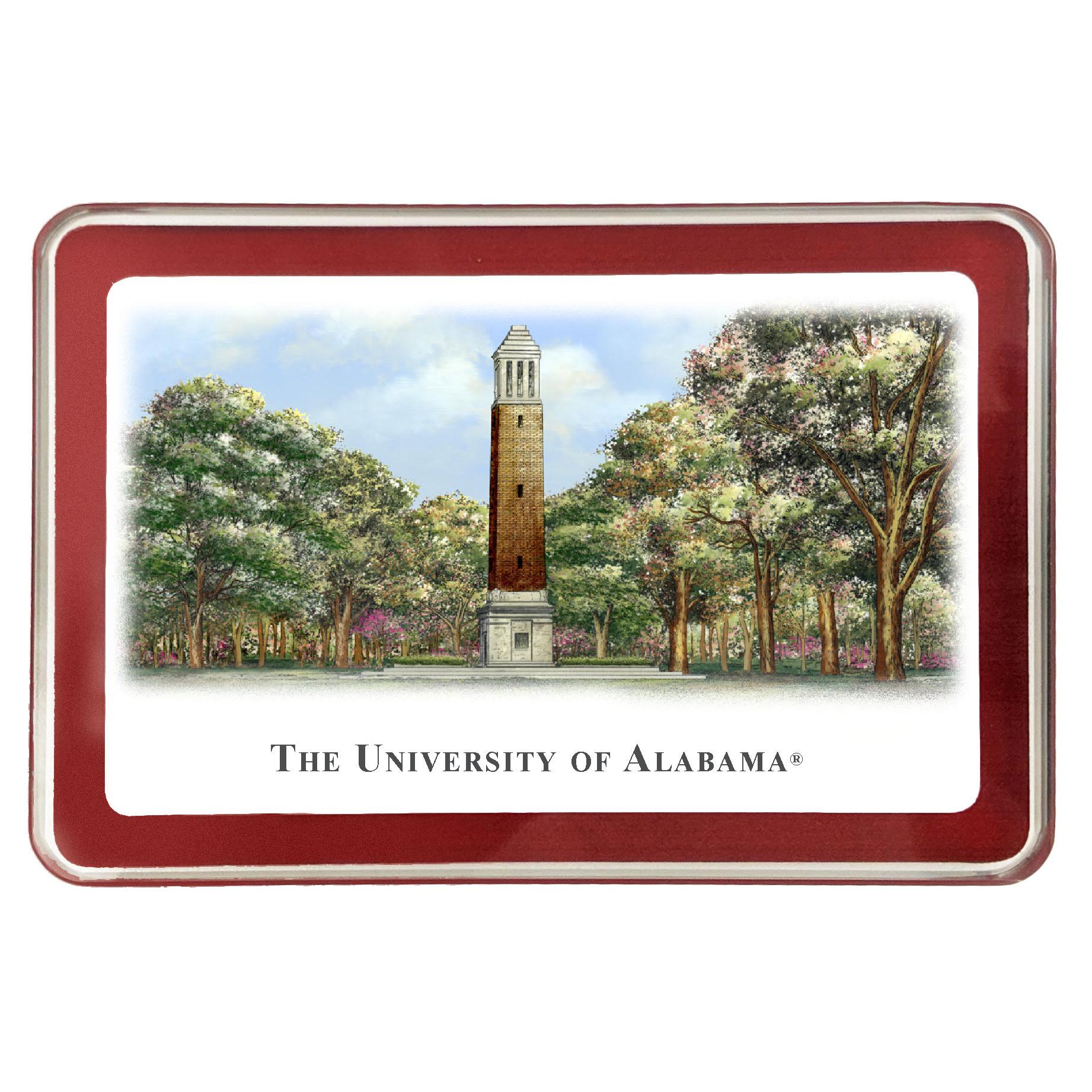 Alabama Eglomise Paperweight