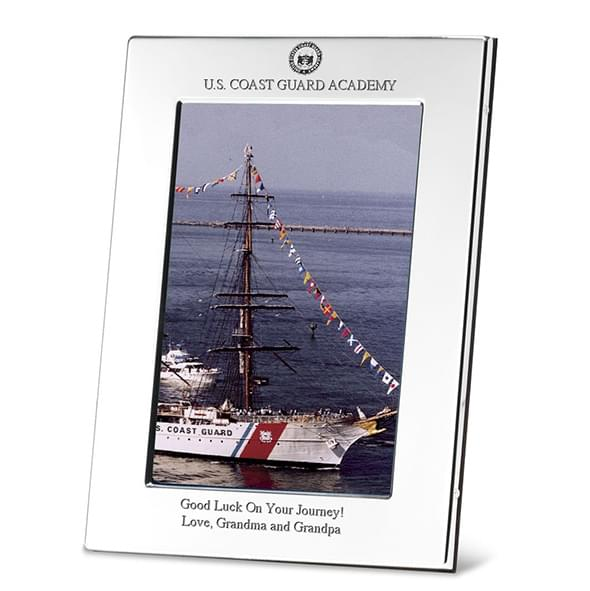 USCGA Polished Pewter 4x6 Picture Frame