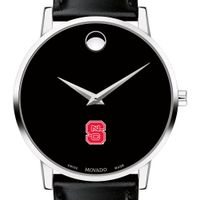 NC State Men's Movado Museum with Leather Strap