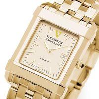 Vanderbilt Men's Gold Quad Watch with Bracelet