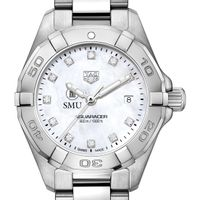 SMU Women's TAG Heuer Steel Aquaracer with MOP Diamond Dial Image-1 Thumbnail
