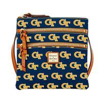 Georgia Tech  Dooney & Bourke Triple Zip Bag