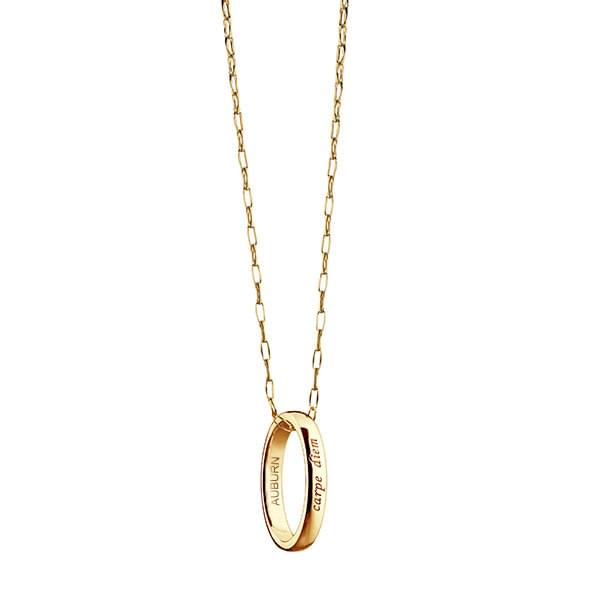 "Auburn Monica Rich Kosann ""Carpe Diem"" Poesy Ring Necklace in Gold"