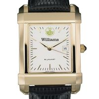 Williams College Men's Gold Quad with Leather Strap
