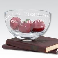 "USAFA 10"" Glass Celebration Bowl"