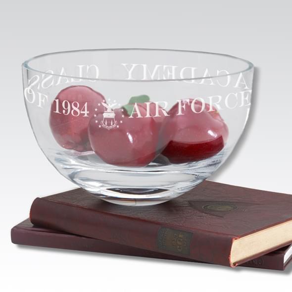 "USAFA 10"" Glass Celebration Bowl"