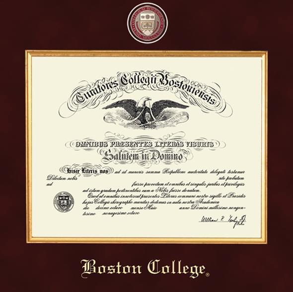 Boston Excelsior Diploma Frame