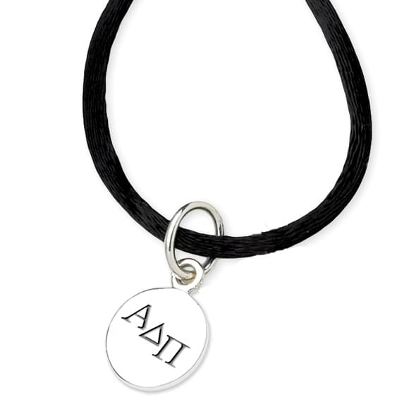 Alpha Delta Pi Satin Necklace with Sterling Charm