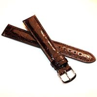 Women's Brown Crocodile Strap with Silver Buckle for Quad Watches