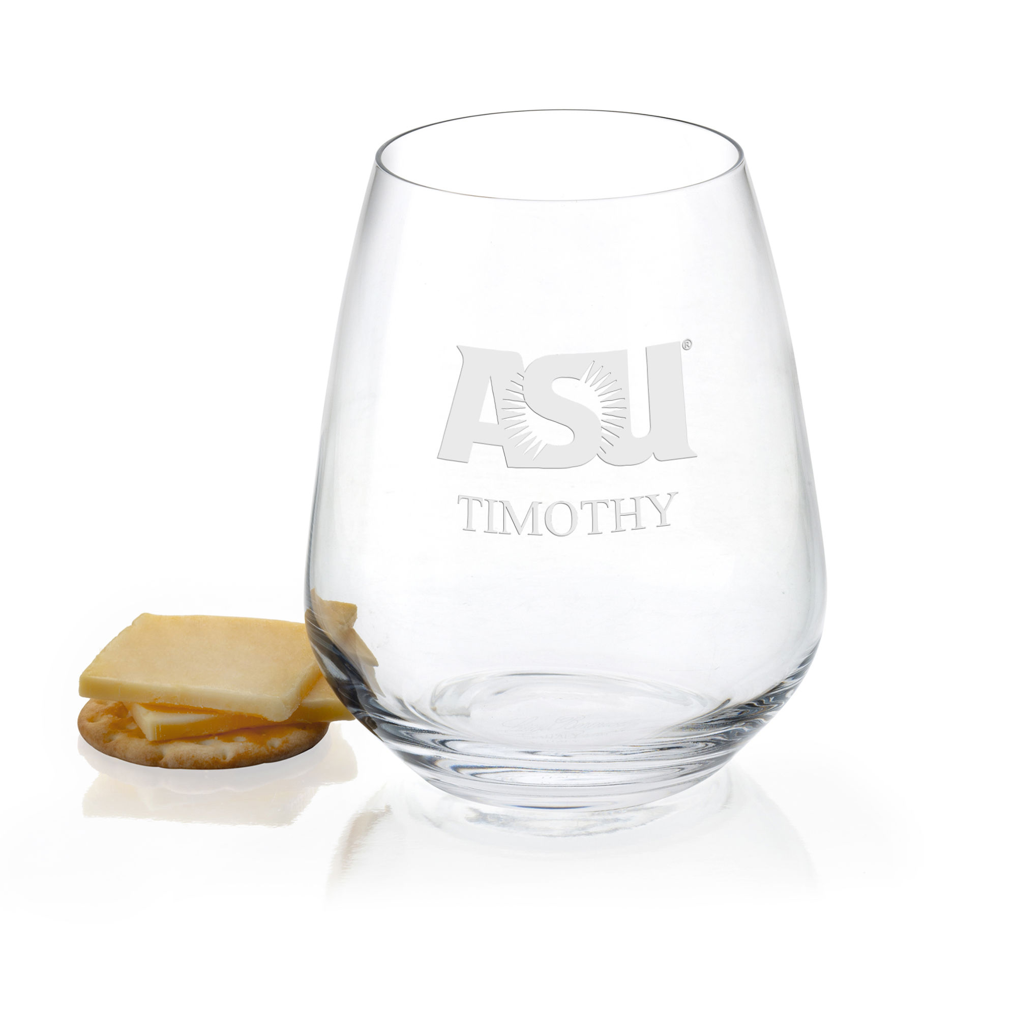 Arizona State Stemless Wine Glasses - Set of 2
