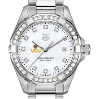 VCU W's TAG Heuer Steel Aquaracer with MOP Dia Dial & Bezel