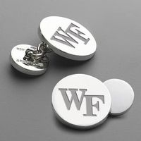 <span style='color: red;'>Clearance Sale!</span><br />Wake Forest Cufflinks w/ chain