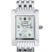 USNA Women's Mother of Pearl Quad Watch with Diamonds & Bracelet