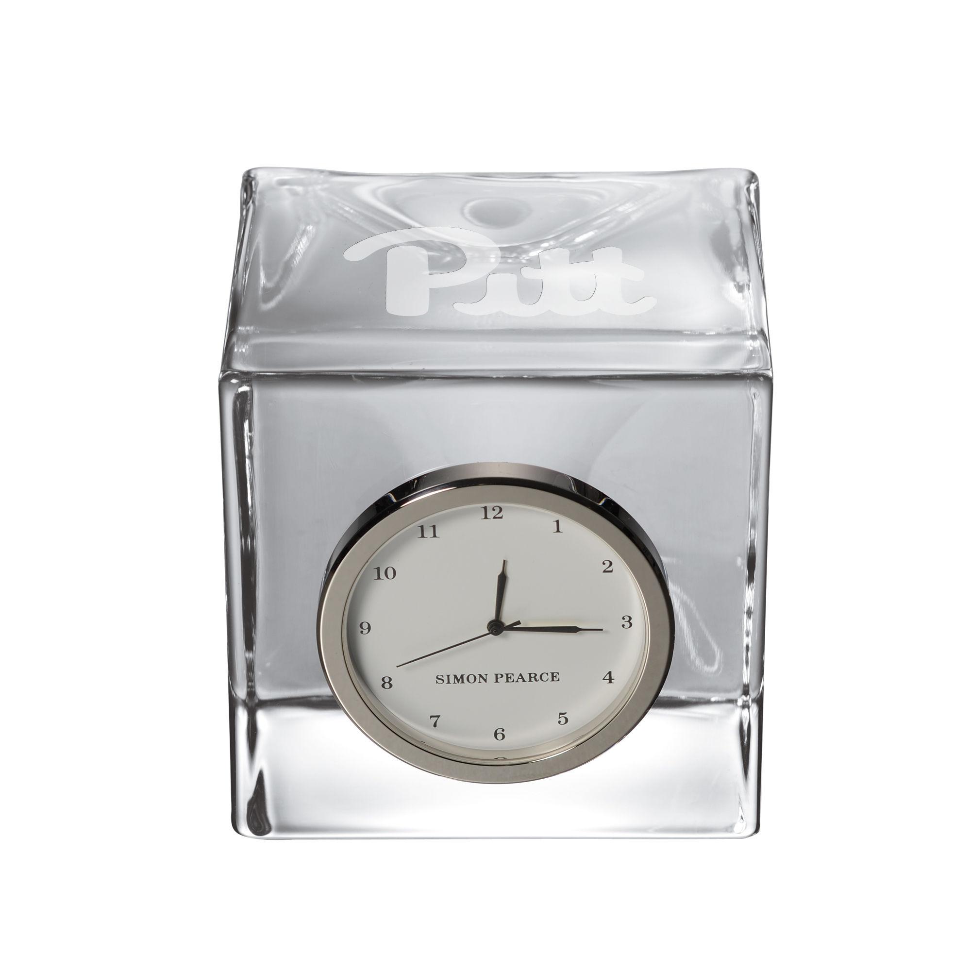 Pitt Glass Desk Clock by Simon Pearce