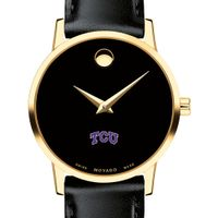 TCU Women's Movado Gold Museum Classic Leather