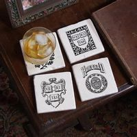 Harvard Vintage Logos Marble Coasters