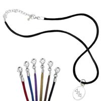 Delta Delta Delta Satin Necklace with Sterling Silver Charm